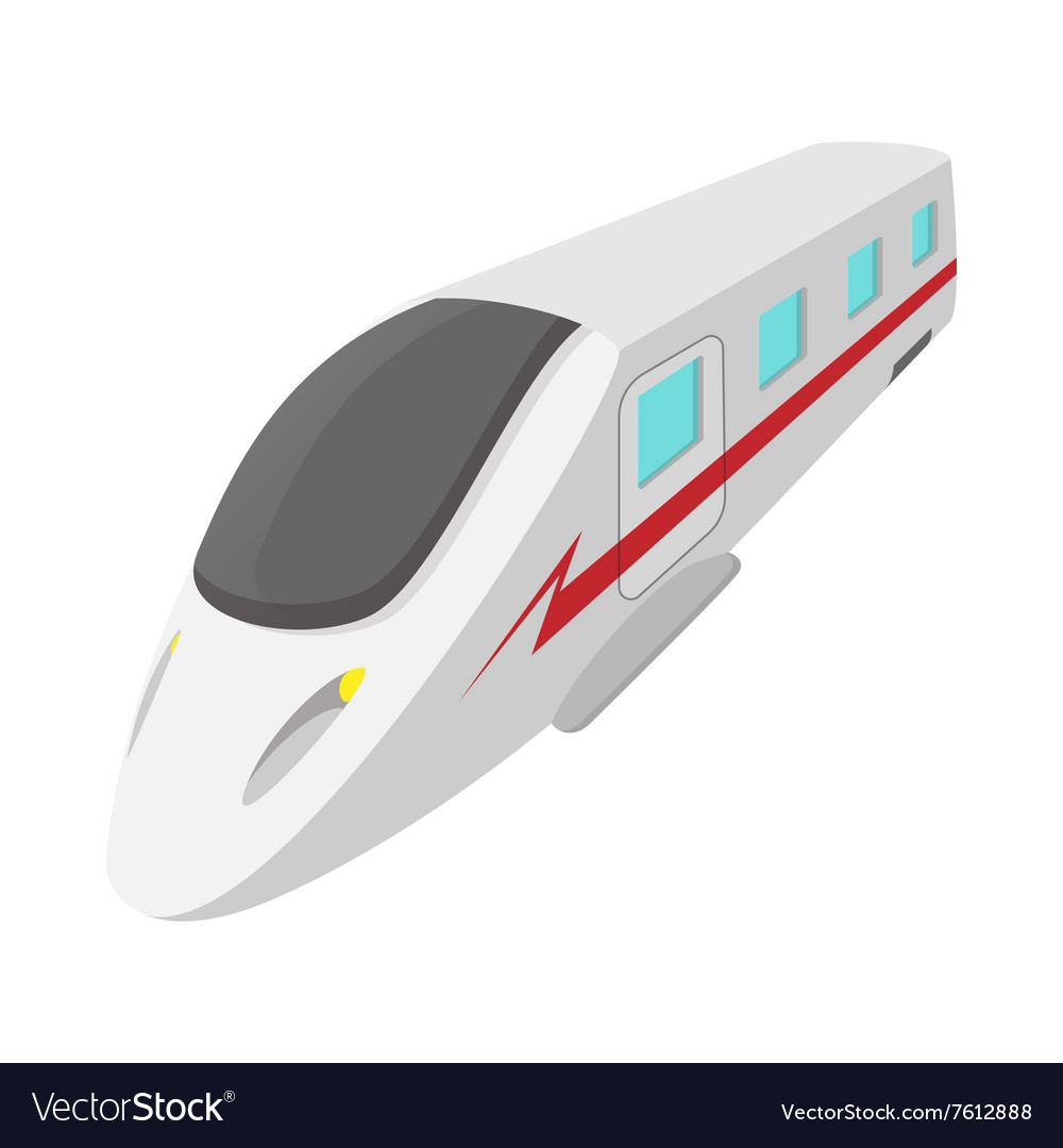 Modern high speed passenger commuter train icon