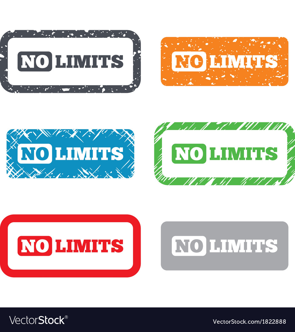 No limit sign icon Unlimited symbol