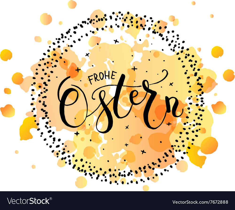 Ostern Easter In German Postcard Card Invitation Vector Image