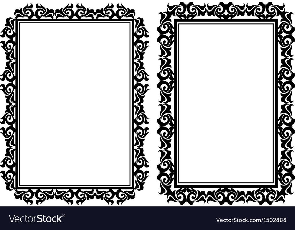Rectangular frames Royalty Free Vector Image - VectorStock