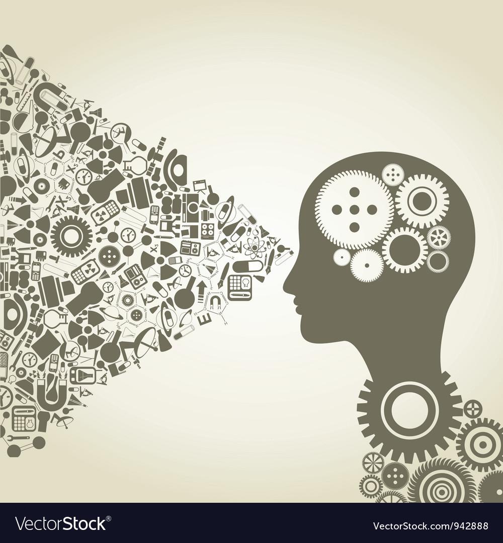 Science head3 vector image