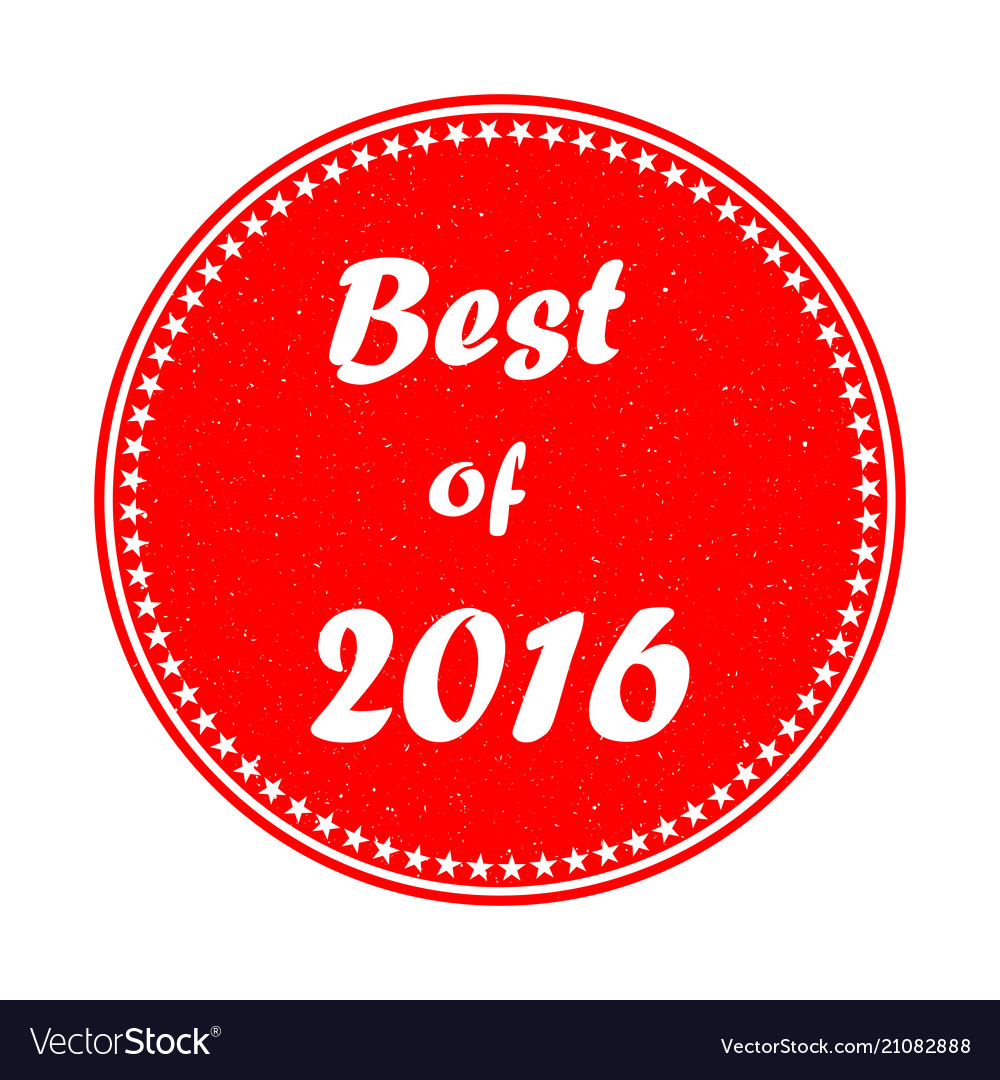 The best of 2015 stamp on white background eps 1