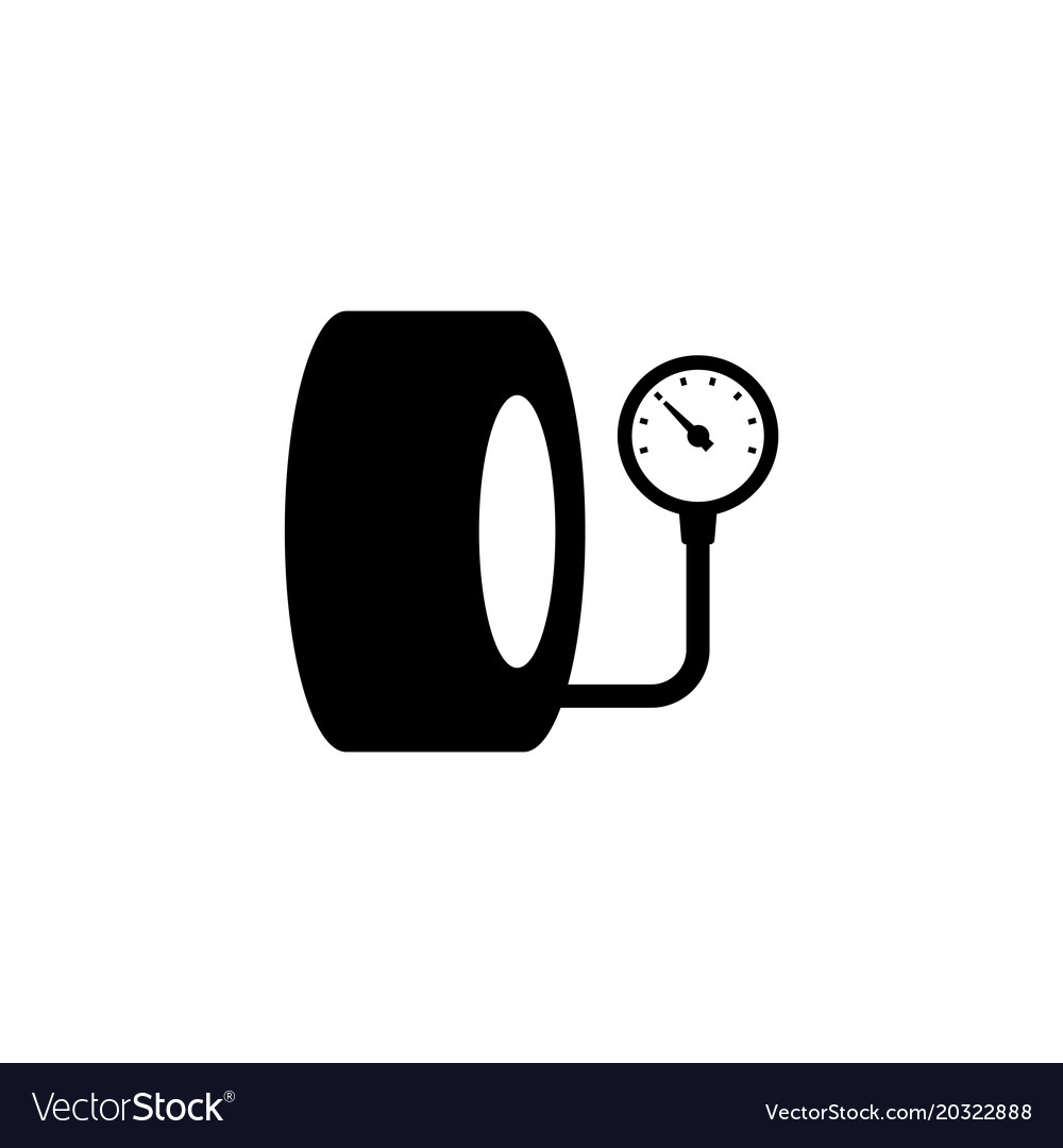 tire pressure gauge icon royalty free vector image