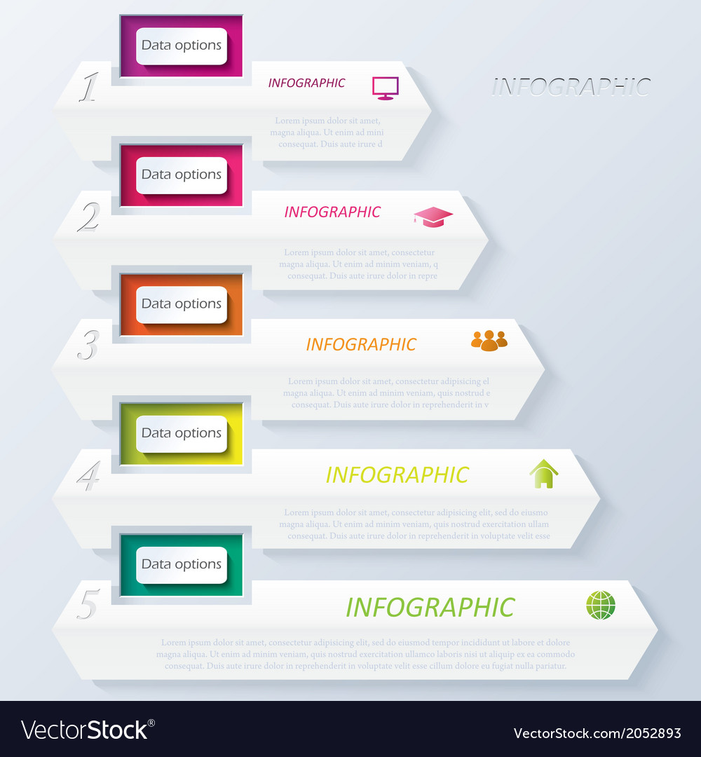 Abstract design infographic with numbers