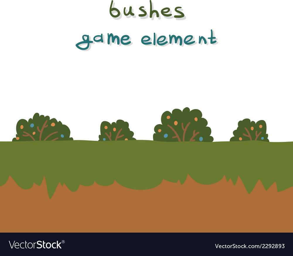 Bushes game element