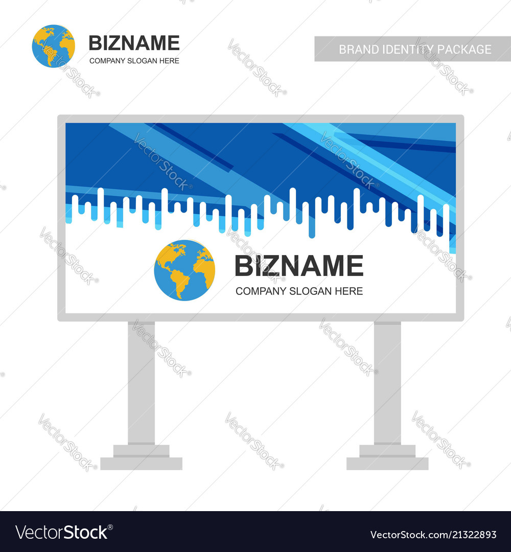 Company advertisement banner with creative design