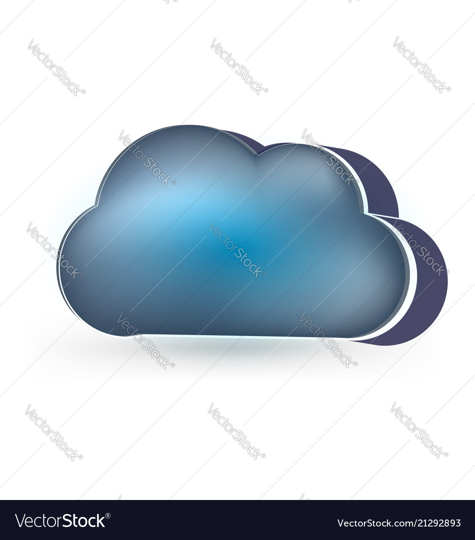 Dark clouds rainy day icon