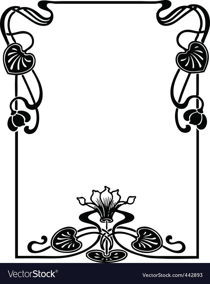 Art Nouveau Border Designs