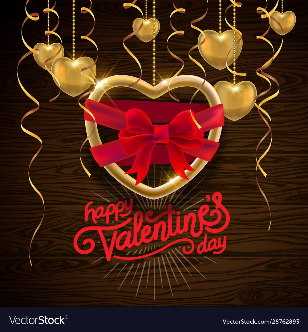 Happy valentines day greeting card with heart