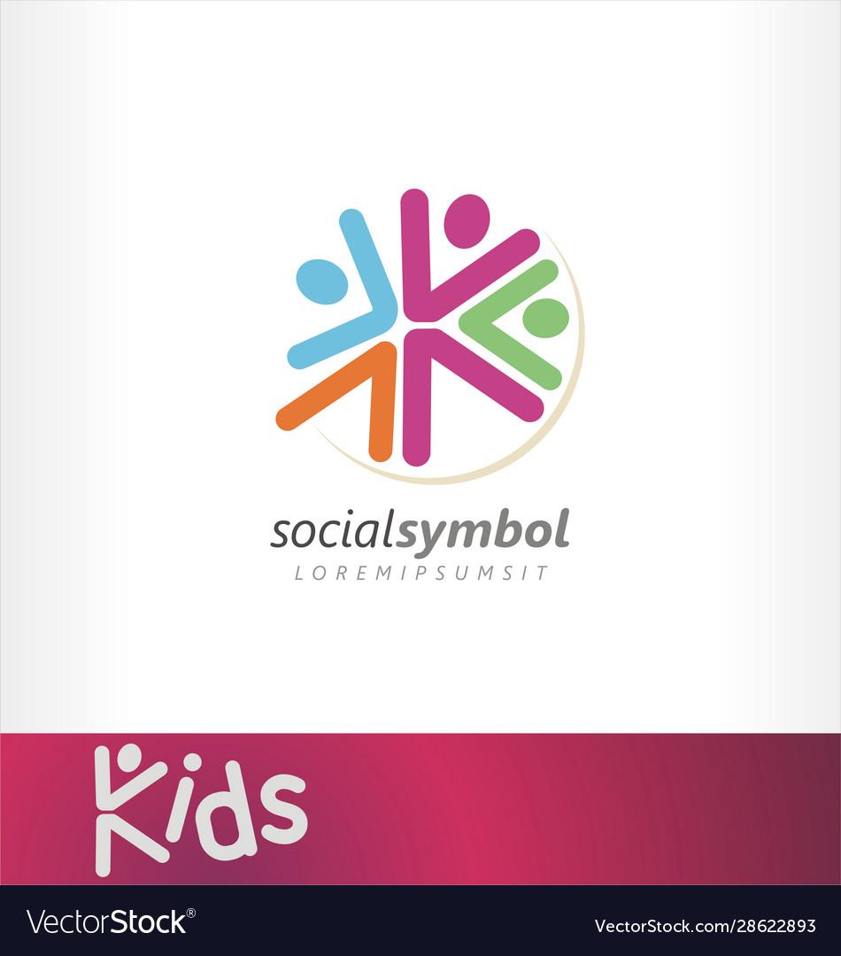 Kids logo social events community