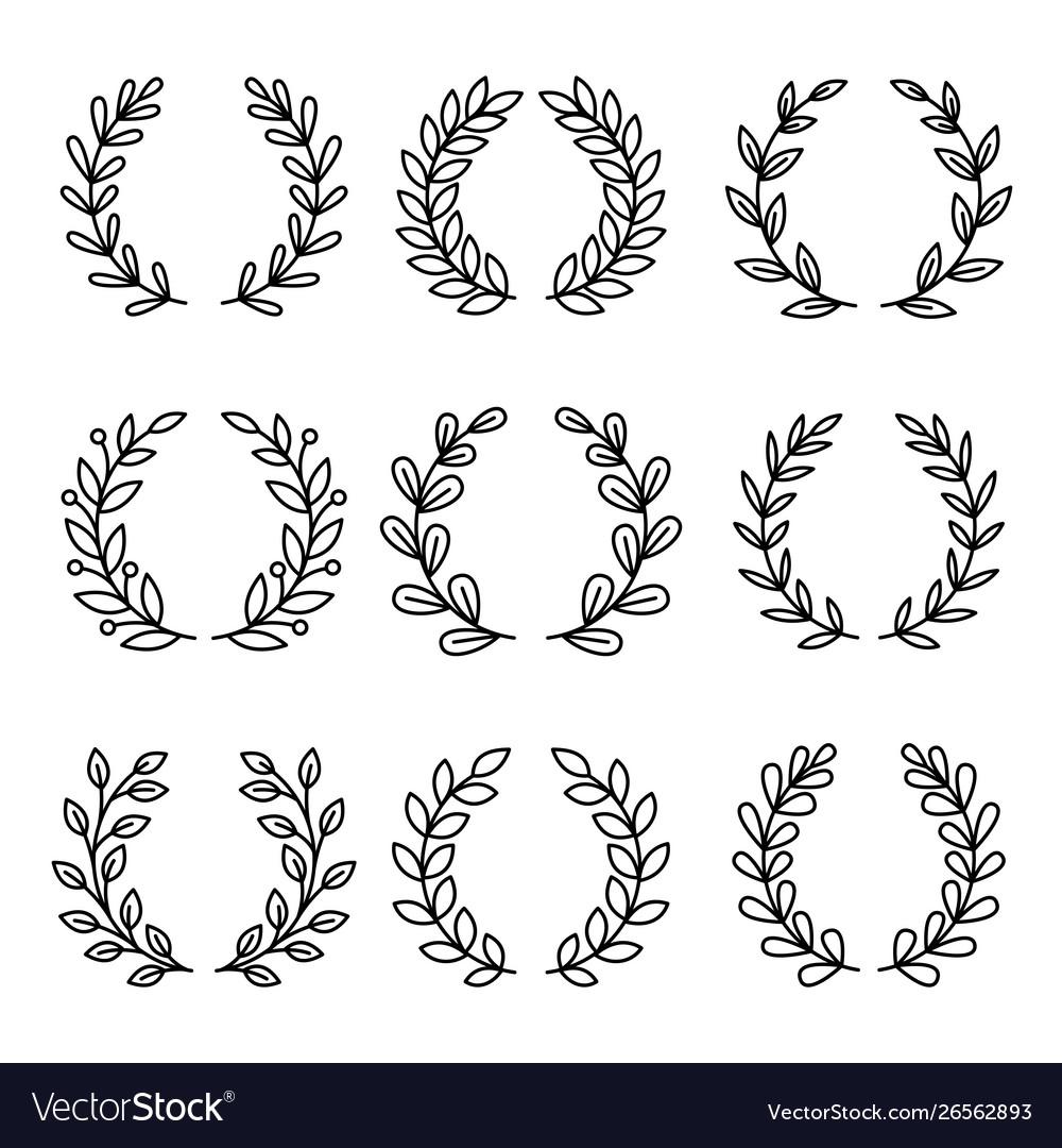 Laurel wreath award icons