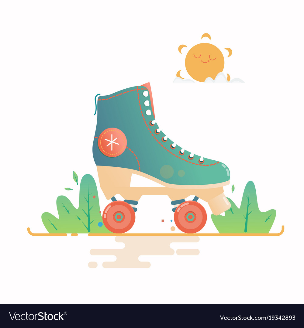 Roller skate isolated on a