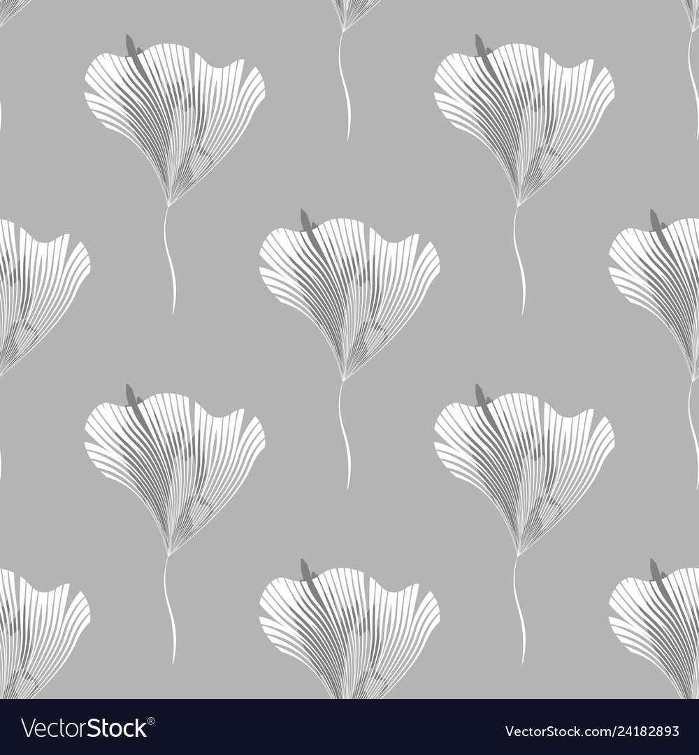Seamless pattern with abstract branches and