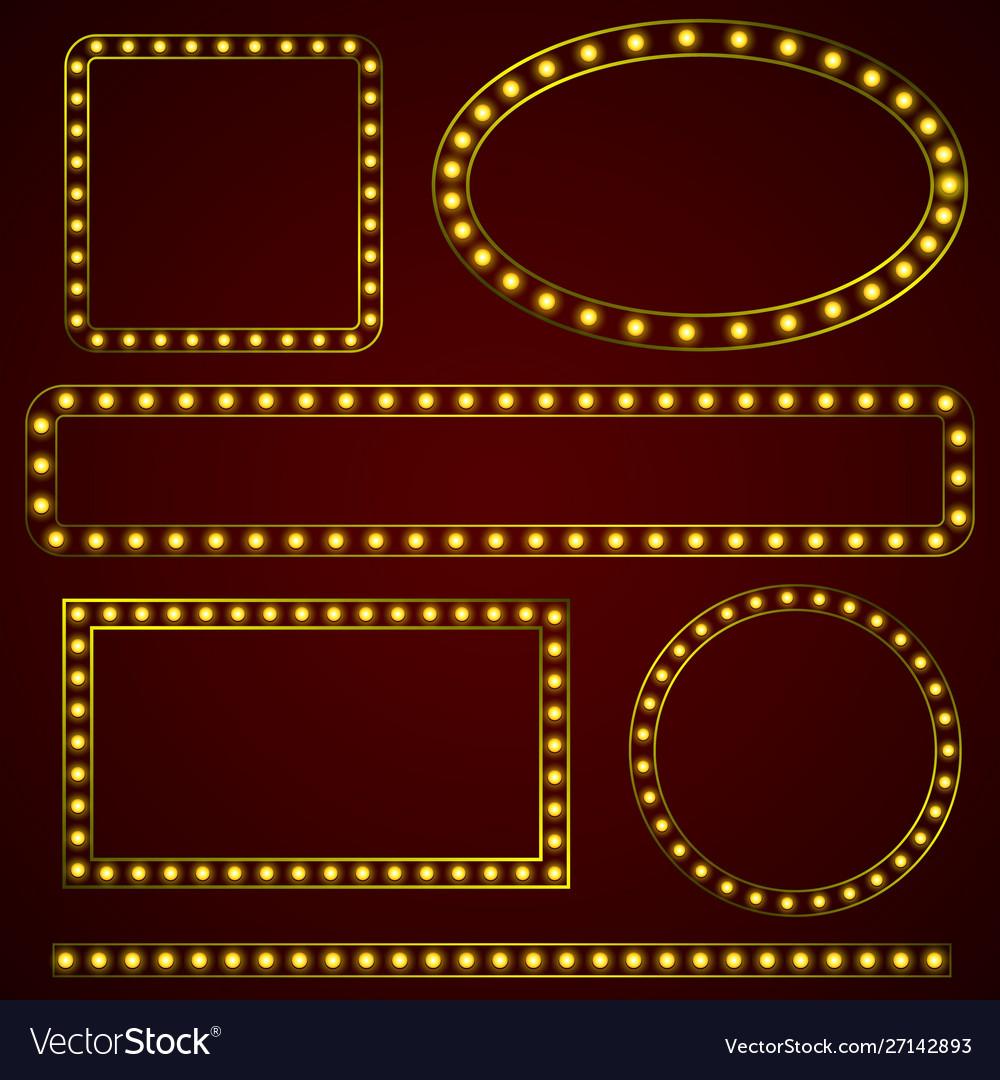 Set retro frames template