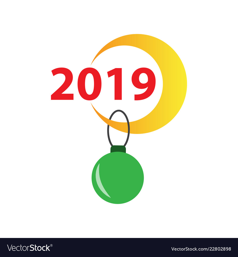 2019 happy new year greeting card celebration vector image m4hsunfo