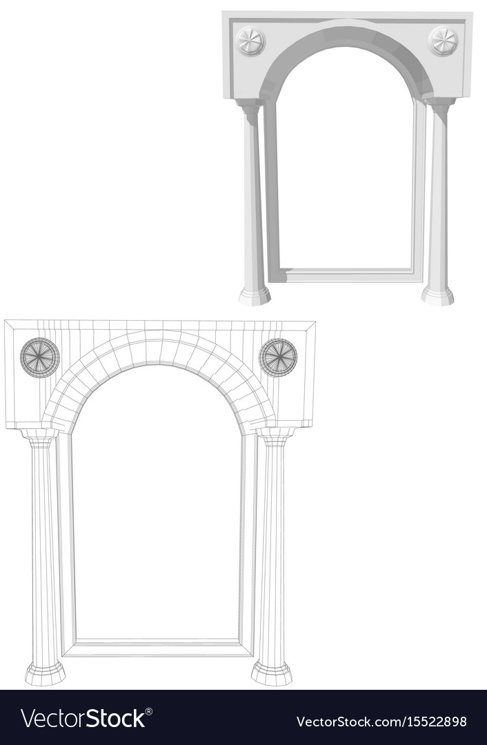 Archway with columns