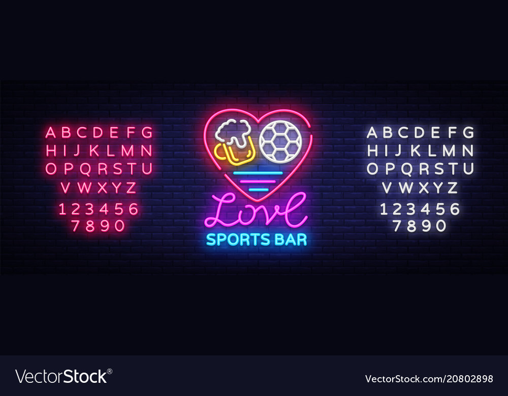 Sports bar logo neon sports pub neon sign