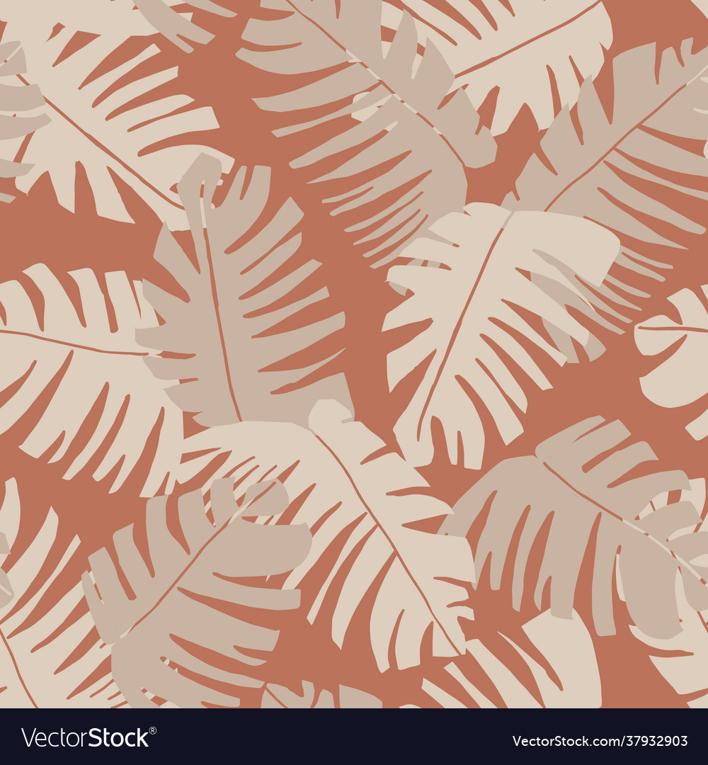 Beautiful summer seamless pattern with exotic