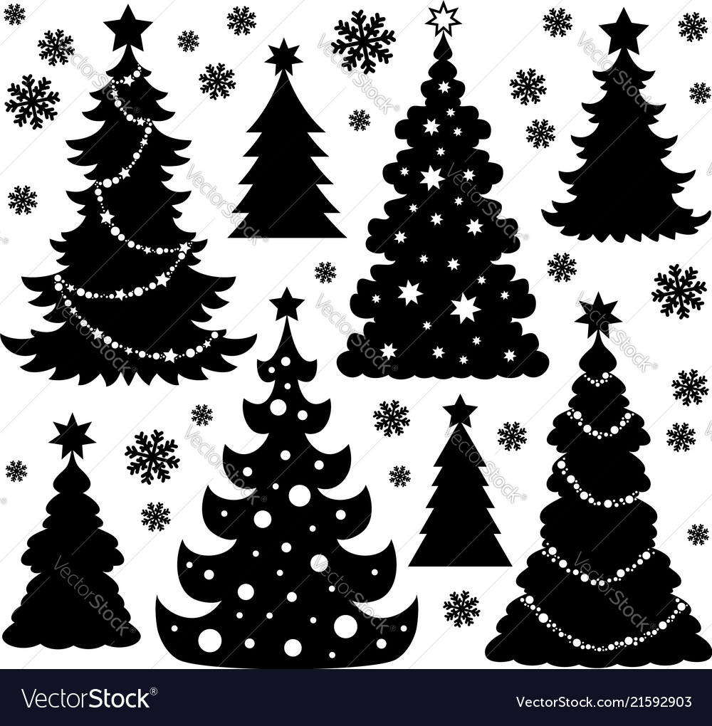 Christmas Trees Silhouette.Christmas Tree Silhouette Theme 1