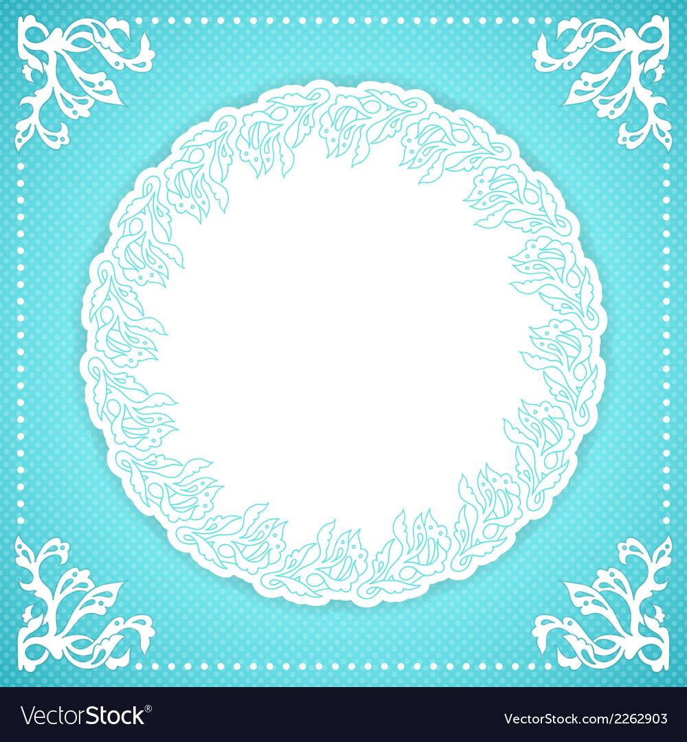 Elegant turquoise floral frame