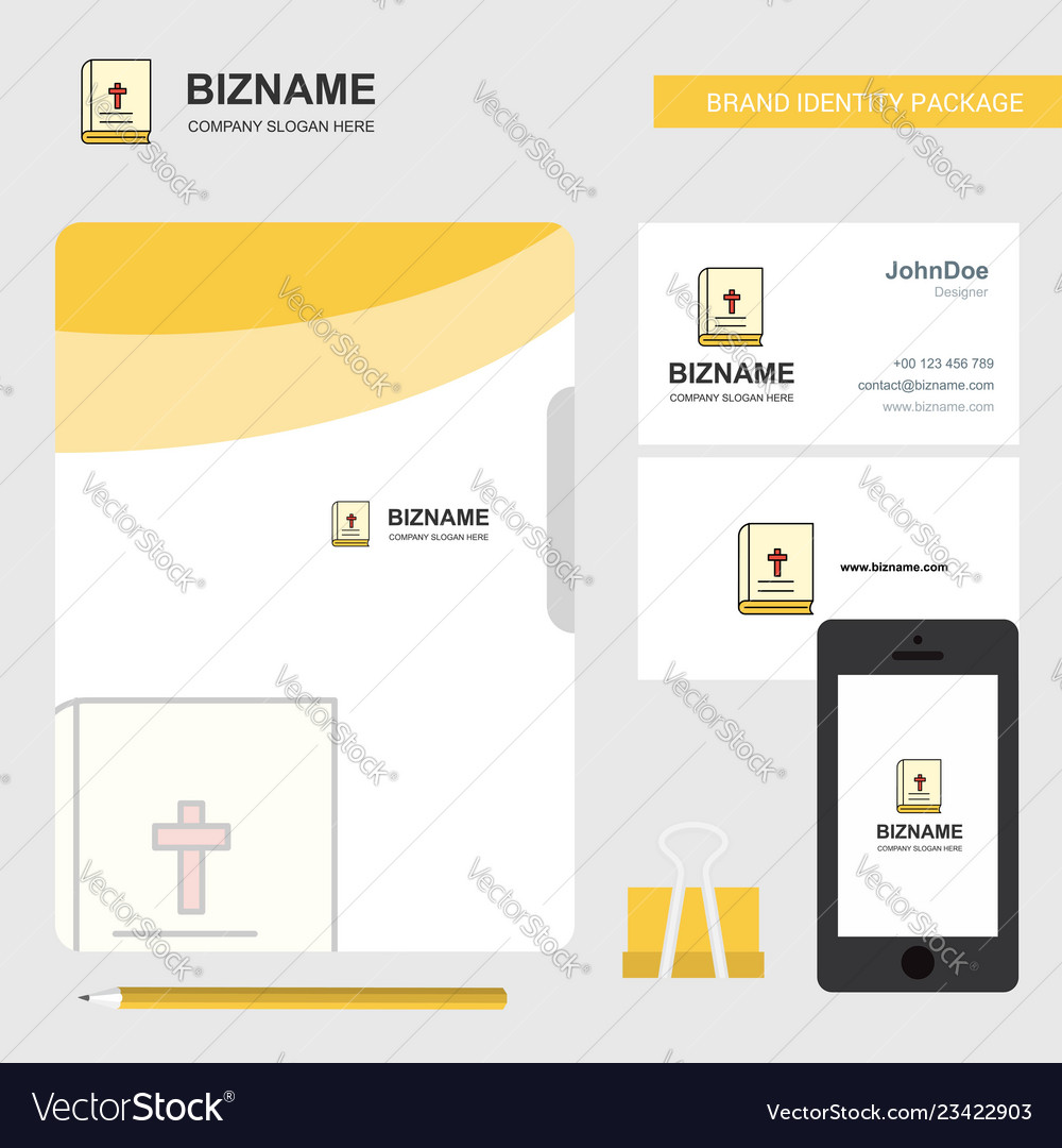 Holy bible business logo file cover visiting card