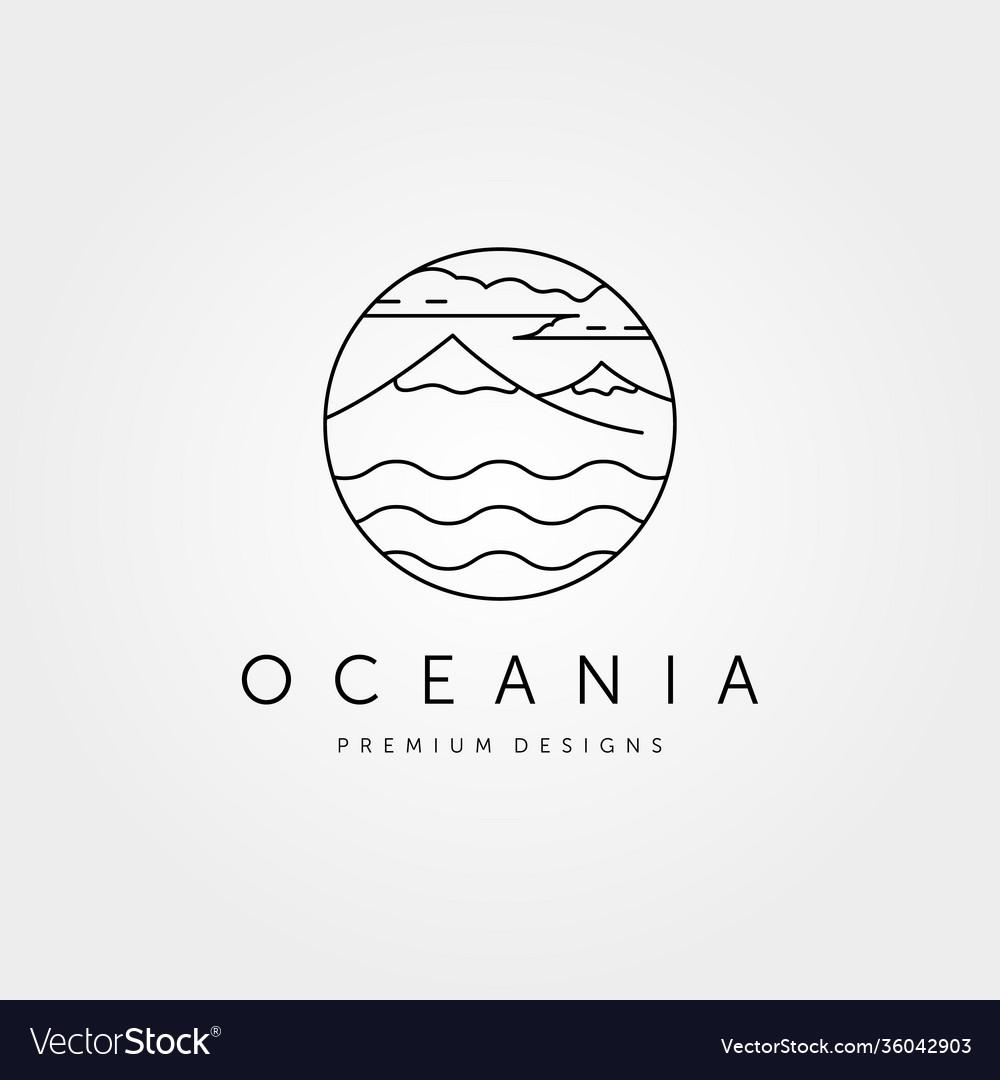 Mountain island logo symbol design