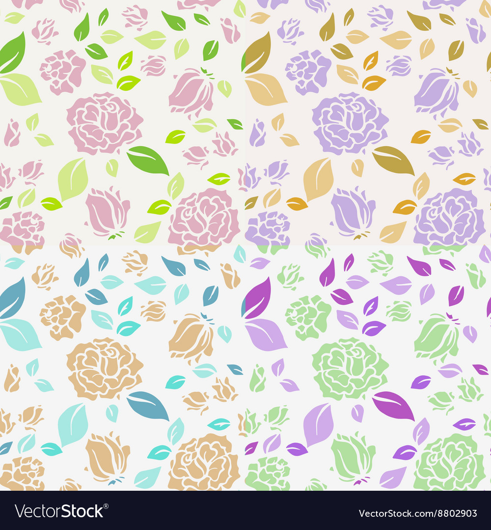 Shabby Chic Rose Pattern and seamless background