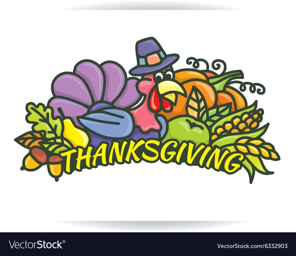 Thanksgiving logo vector image