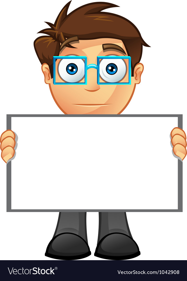 business man blank sign 15 royalty free vector image