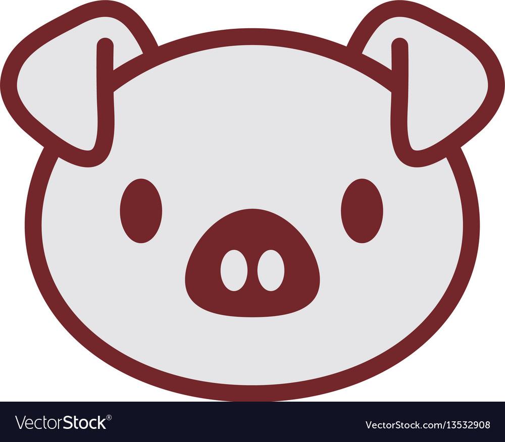 Cute piggy face image