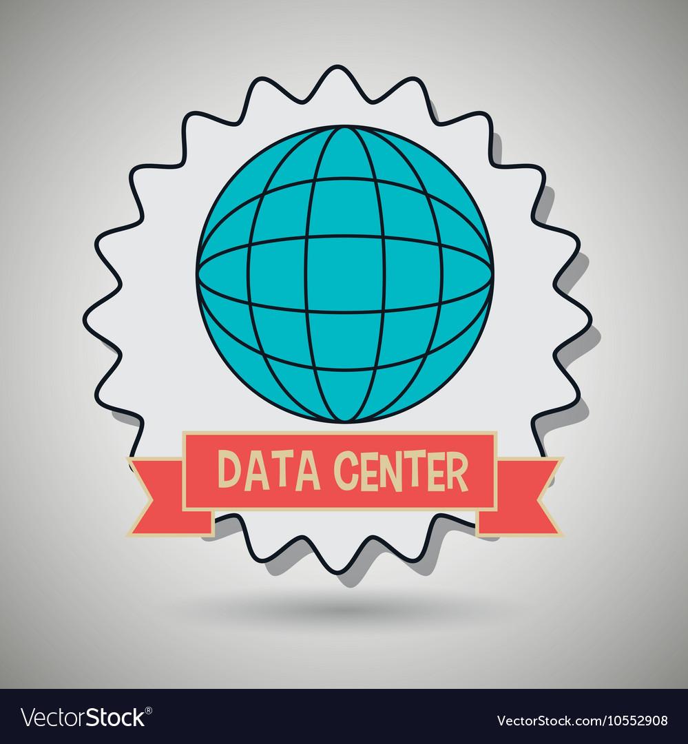 Data center global world vector image