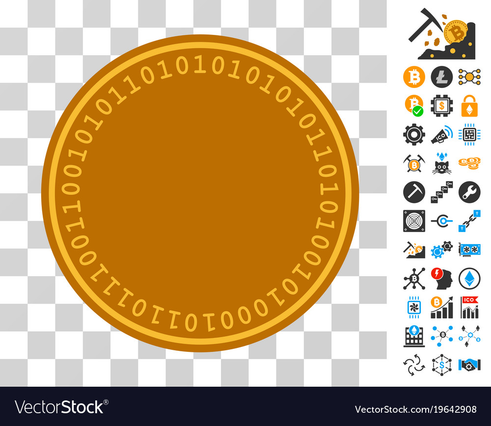 digital coin template icon with bonus royalty free vector