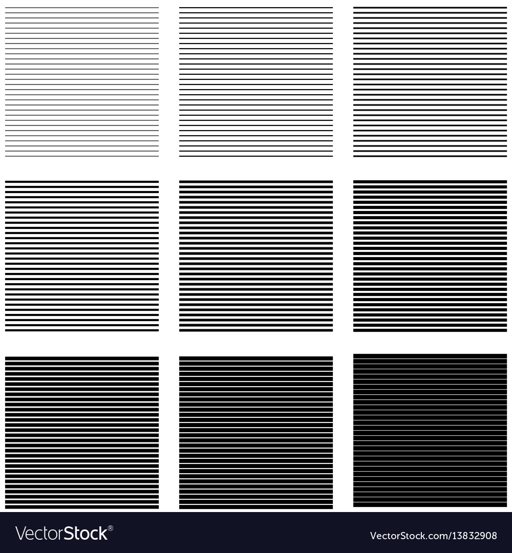 Set backgrounds horizontal lines and stripes with
