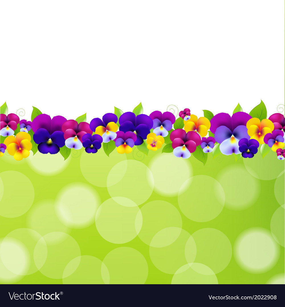 Spring flowers border royalty free vector image spring flowers border vector image mightylinksfo