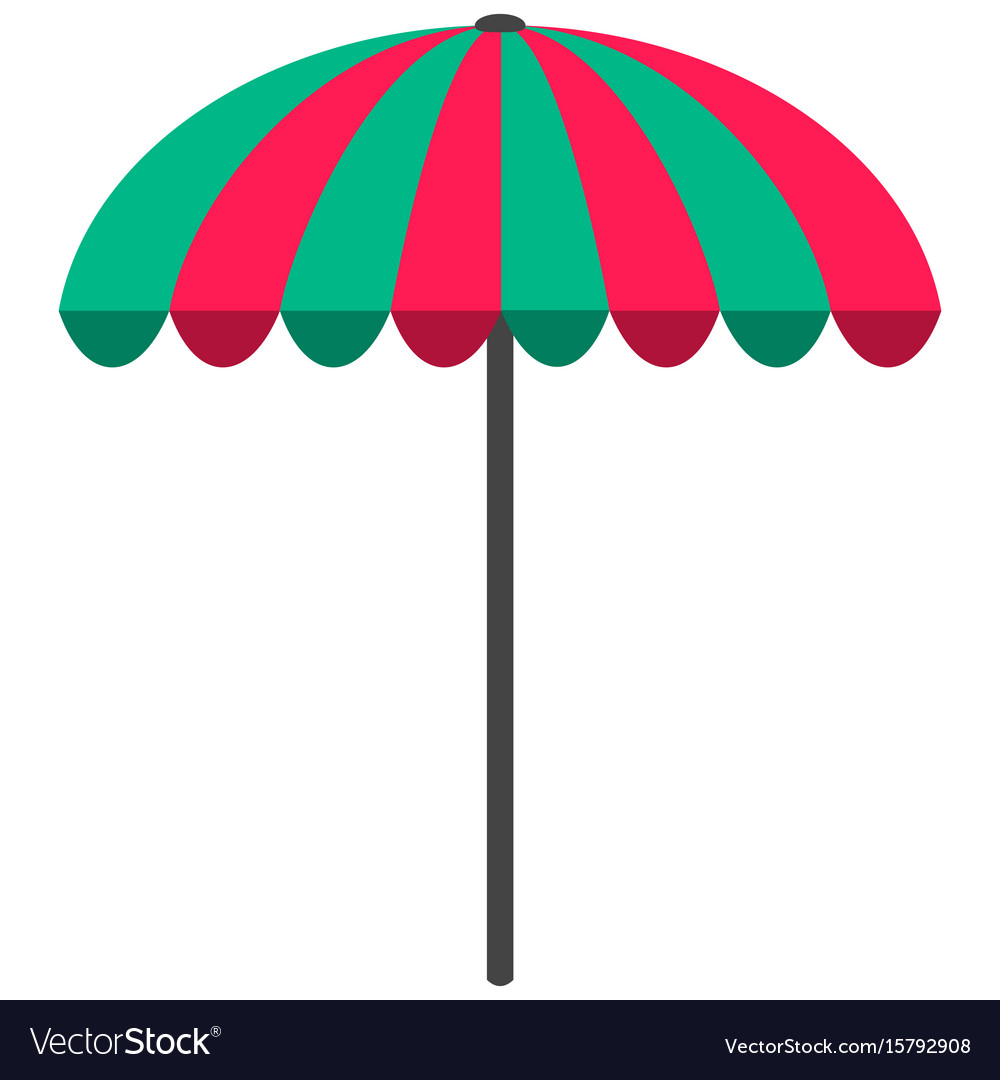 sun umbrella flat icon parasol beach umbrella vector image rh vectorstock com umbrella vector tutorial umbrella vector free download