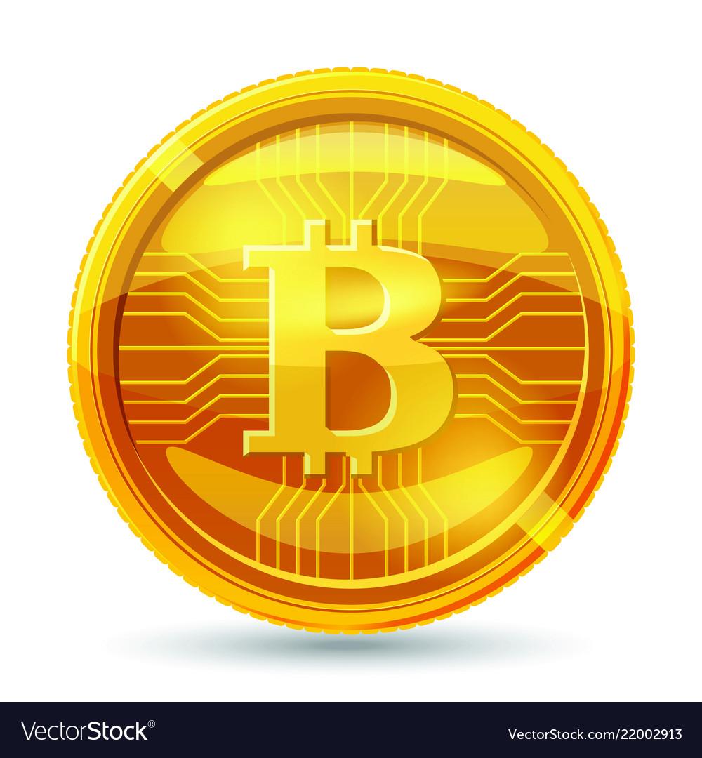 Golden bitcoin coin crypto currency golden coin