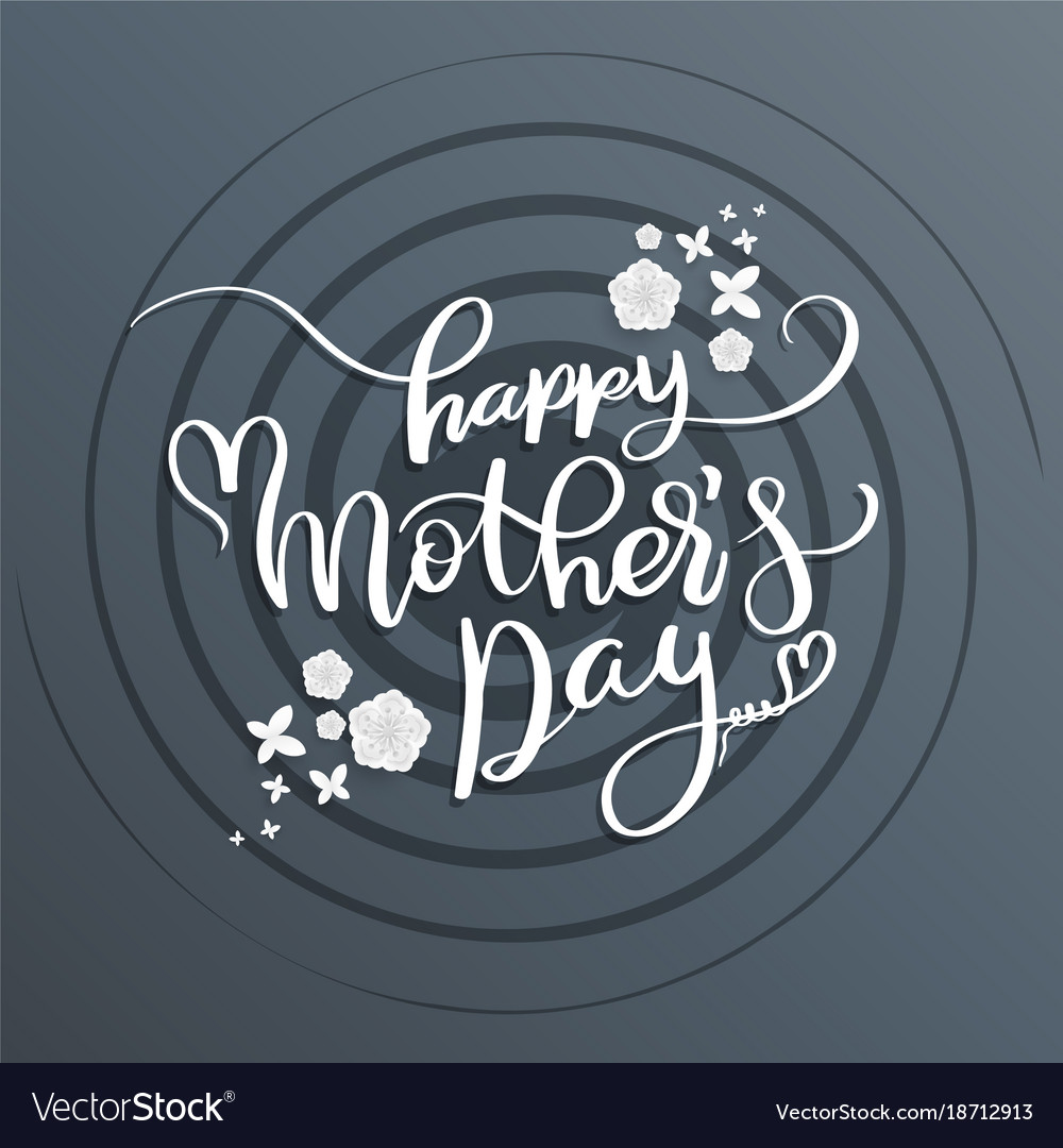 Lettering for mothers day card