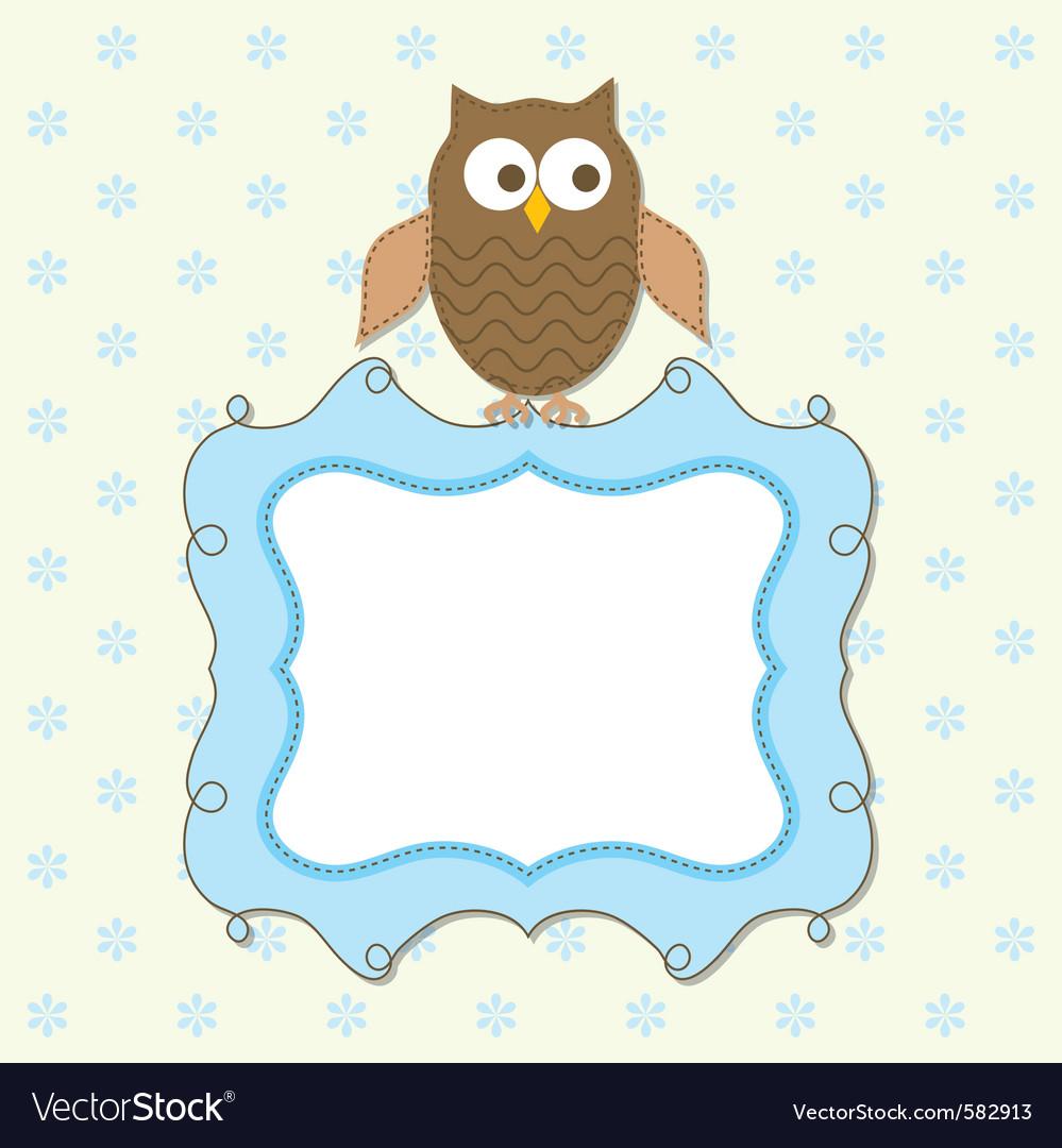 Owl frame Royalty Free Vector Image - VectorStock
