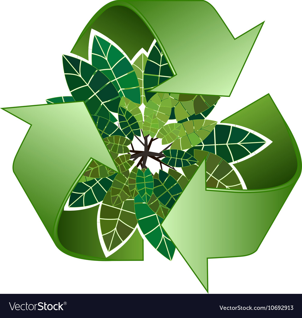 save forest ecology green recycle sign royalty free vector