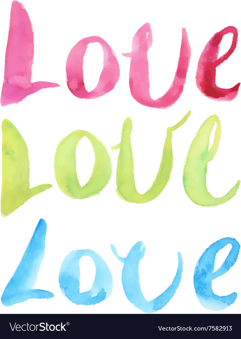 Watercolor Love Calligraphy Script