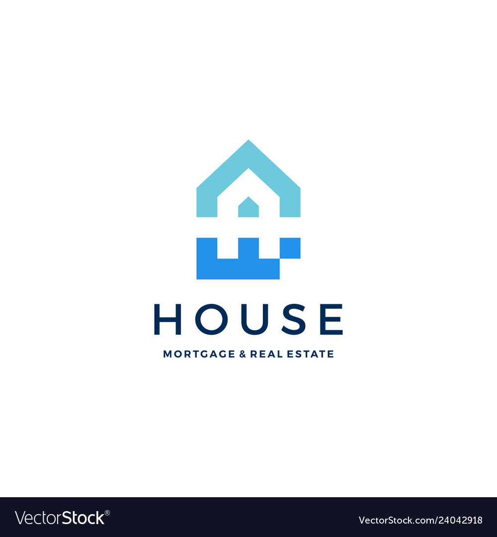 A letter house home mortgage real estate logo icon