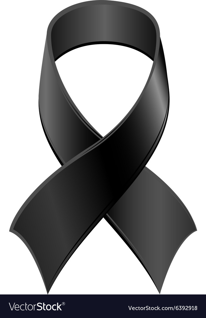 Black Ribbon Symbol Day Of Mourning Royalty Free Vector