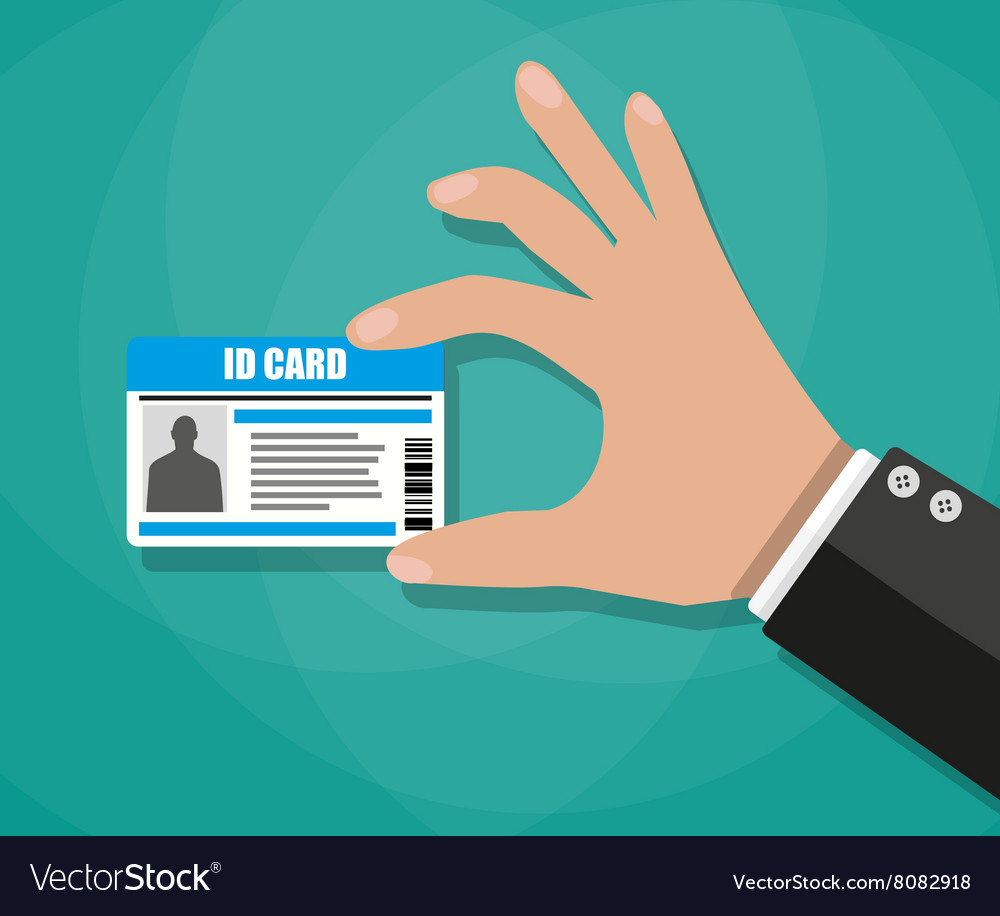 Free Image Royalty Id Card Hand Vector Businessman Holding