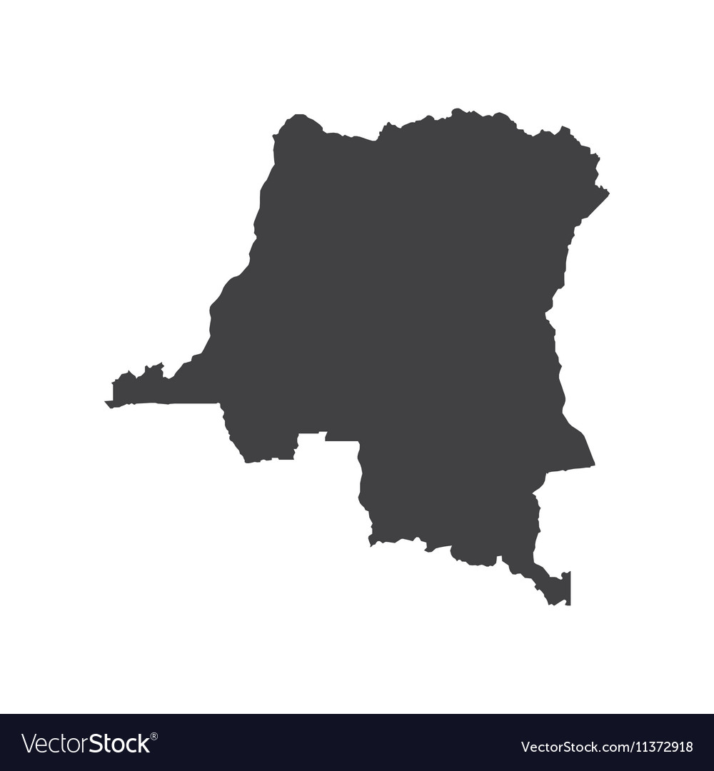 Democratic Republic of the Congo map silhouette Vector Image