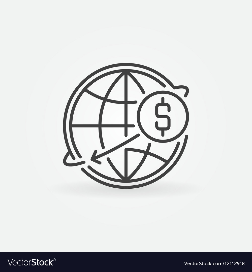Transfer Usd Money Online Icon Vector Image