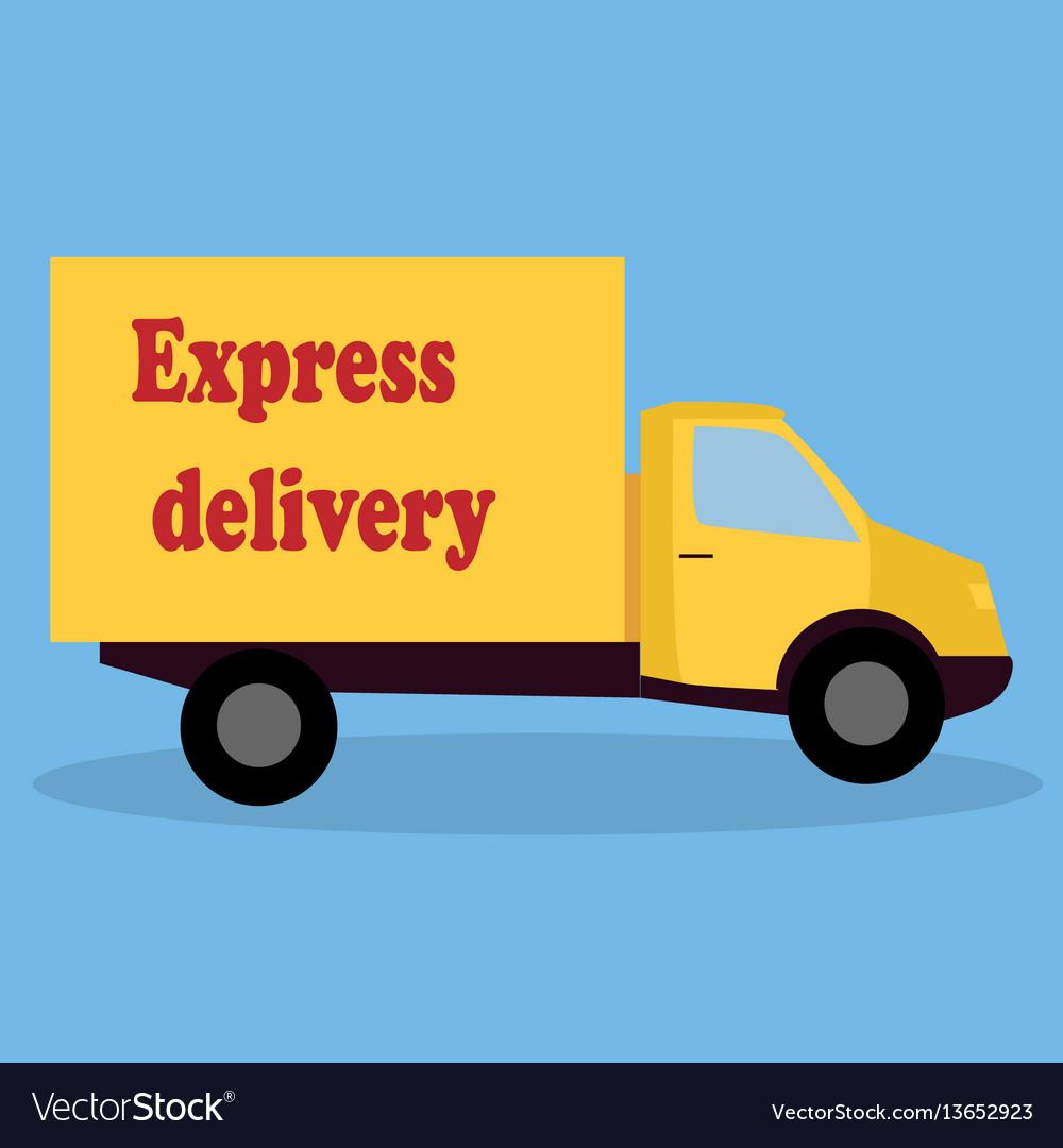 A cartoon representing a delivery car