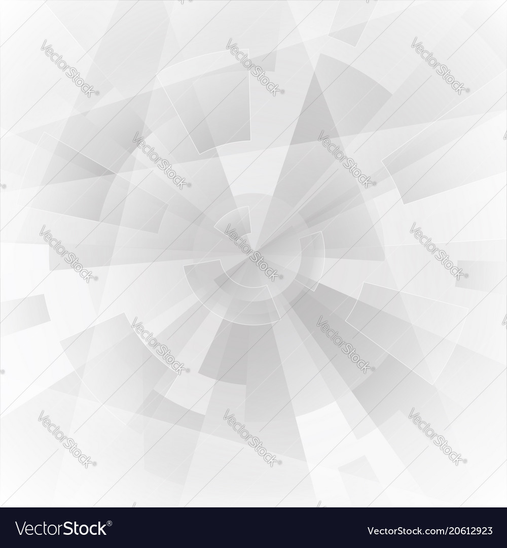 Abstract geometric grey gear background vector image