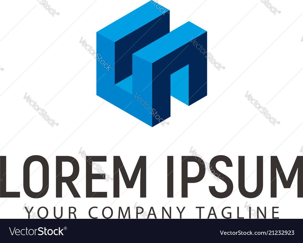Box building logo design concept template