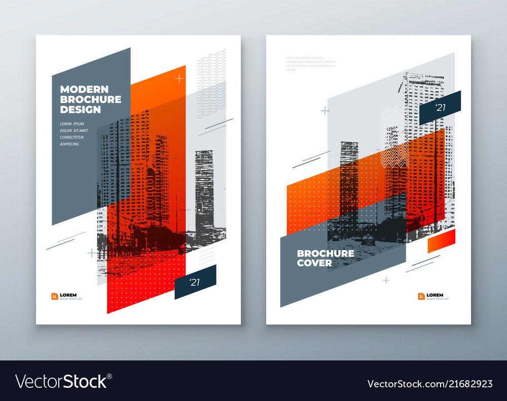 Brochure template layout design corporate