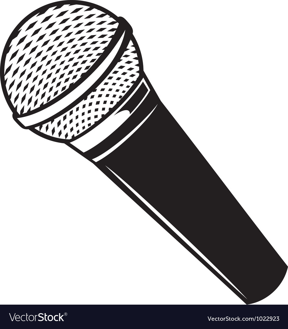 classic microphone royalty free vector image vectorstock microphone clip art free microphone clip art blank